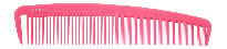 Wide Classic Cutting/Styling Comb - Pink